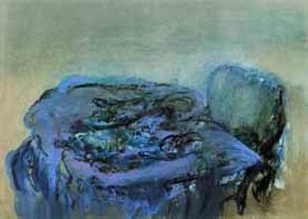 "<p><span class=""viewer-caption-artist"">Ziad Dalloul</span></p> <p><span class=""viewer-caption-title""><i>Blue Chair</i></span>, <span class=""viewer-caption-year"">2012</span></p> <p><span class=""viewer-caption-media"">Oil on Parchment Paper</span></p> <p><span class=""viewer-caption-dimensions"">50 x 70 cm (19 5/8 x 27 1/2 in.)</span></p> <p><span class=""viewer-caption-inventory"">ZID0051</span></p> <p><span class=""viewer-caption-aux""></span></p>"