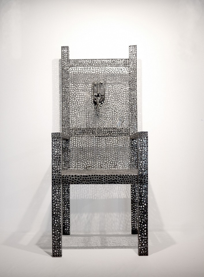 "<p><span class=""viewer-caption-artist"">Saddek Wasil</span></p> <p><span class=""viewer-caption-title""><i>Metamorphosis of a Chair 22</i></span>, <span class=""viewer-caption-year"">2009</span></p> <p><span class=""viewer-caption-media"">Metallic Sculpture</span></p> <p><span class=""viewer-caption-dimensions"">200 x 75 x 75 cm (78 3/4 x 29 1/2 x 29 1/2 in.)</span></p> <p><span class=""viewer-caption-inventory"">SAW0050</span></p> <p><span class=""viewer-caption-aux""></span></p>"